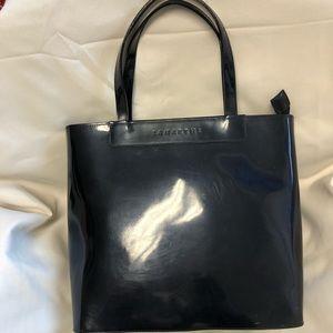 Lamarthe Bag 12 x 10.5 x 4 black patent GUC